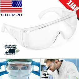 US Safety Goggles Over Glasses Lab Work Eye Protective Eyewe