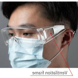US STOCK Safety Goggles Over Glasses Lab Work Eye Protective