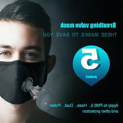 USA Anti PM 2.5 Pollen Dust Mask Washable Anti-fog Carbon Fi