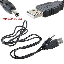 ABLEGRID USB Charging Cable PC Laptop Charger Power Cord For