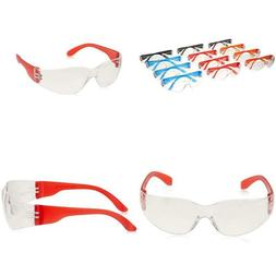 Uv Protection Scratch Resistant Clear Lenses Safety Glasses