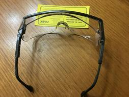 Uvex Astro OTG S2500C Black Frame Clear  Lens Safety Glasses