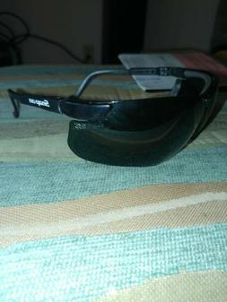 UVEX SAFETY GLASSES snap on 130-145 mm green tint.