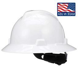 MSA V-Gard Hard Hats, Fas-Trac Ratchet Suspension, Size 6 1/