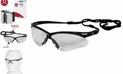V30 Nemesis Safety Glasses , Clear with Black Frame, 12 Pair
