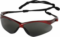 V30 Nemesis Safety Glasses,Smoke,Anti Scratch,Anti-Fog,RED F