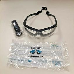 Pyramex V3G Safety Goggles, Black Strap/Temples/Clear Anti-F