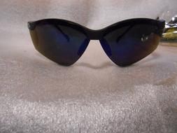 Encon Veratti Breeze Safety Glasses Blue Mirror Black Frames