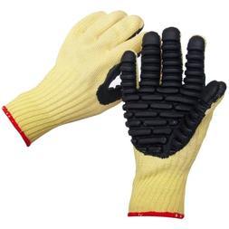 Impacto VI4741 Blade Anti-Vibration Anti Slash Glove, Yellow