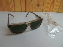 Vintage NOS Crews Safety Glasses Engineer Side Shields Green
