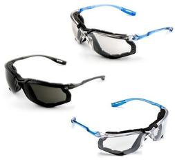 3M Virtua CCS Goggles:Safety Glasses w/ Earplugs&Foam Gasket