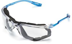 3M Virtua CCS Safety Glasses with Blue Temples, Foam, Clear