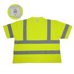 High Visibility Class II T-Shirt Safety Wear Work Dress