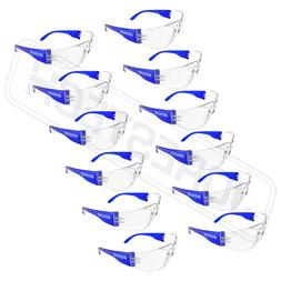 vision blue frame clear lens safety glasses