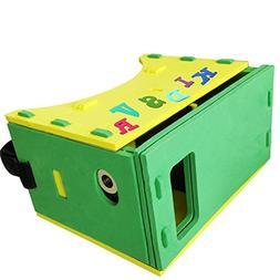 Children VR Headset Box 3D Virtual Reality Glasses Ultra Lig