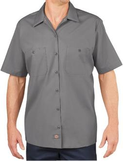 Dickies LS535 Men's Industrial SS Work Shirt Graphite Grey X