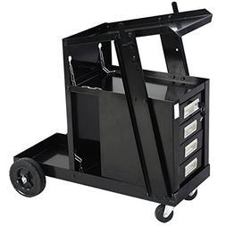 Goplus® Welding Welder Cart MIG TIG ARC Plasma Cutter Tank