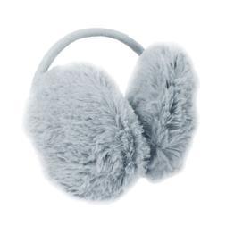 Winter Metal Frame Plush Earlap Ear Warmer Back Earmuffs Gra