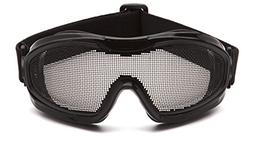 Pyramex Wire Mesh Lens Safety Goggle Glasses Black Job Work