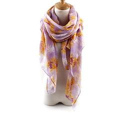 New Woman Men Multi-use Voile Pineapple Printed Scarf Shawl