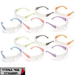 Intruder Mini Multi-Color Safety Glasses - Clear Lens w/Asso