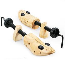 Echodo 2 Way Cedar Shoe Trees For Men Wooden Shoe Stretcher