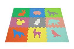 Woodland Animals Play Mat ~ Non Toxic Crawl Mat with Softer,