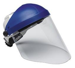 3M 82783-00000 Blue Polycarbonate Face Shield Headgear - Rat