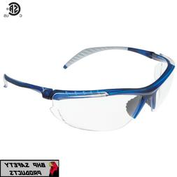 Encon Wraparound Veratti 307 Safety Glasses, Clear Lens, Tra
