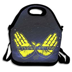 Wu-Tang Clan Forever Yellow Hand Travel Picnic Lunch Tote Ba