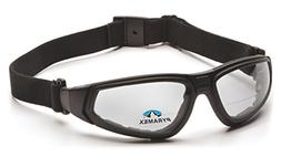 Pyramex XSG Reader Safety Glasses, Black Frame/Clear Anti-Fo