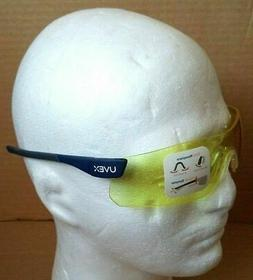 Yellow Frame-less Uvex Safety Glasses Adjustable Nose Comfor