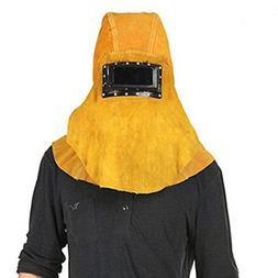 Yellow Head Mounted Flip 3 in 1 Cowhide Split Leather Weldin