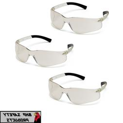 PYRAMEX ZTEK SAFETY GLASSES I/O MIRROR INDOOR/OUTDOOR LENS S